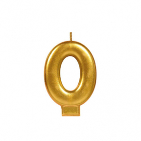 METALLIC NUMERAL GOLD Candle - 0