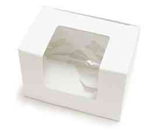 White Egg Box - Medium - qty 2