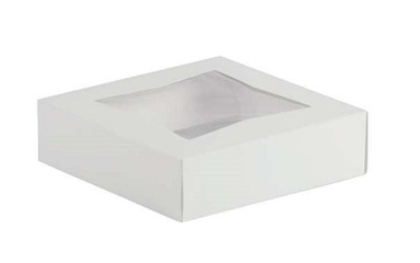 "Pie/Cookie Window Box - 9""x9""x2.5"" - qty 200"