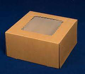 "Window Cake Box - 12""x12""x5"" - qty 6"