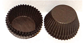 Candy Cups - Brown - Medium - qty 100