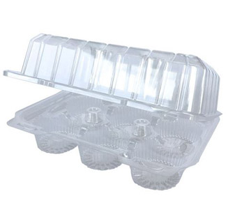 Cupcake Container - 6 Count Container - BULK