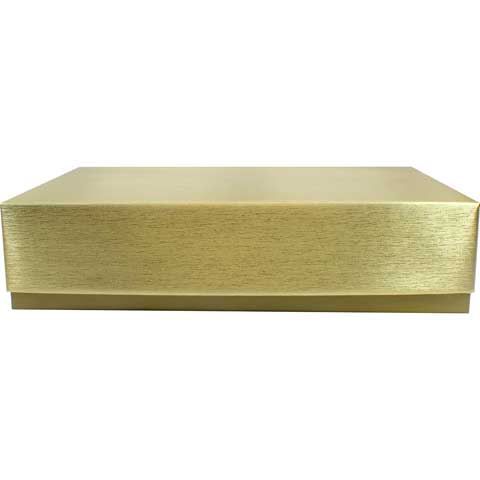 2 Piece Candy Box - Gold - 2lb