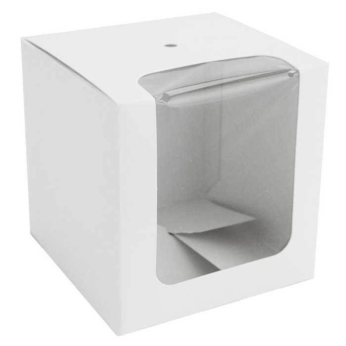 White Cube Box - Window - QTY 2