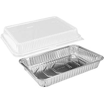 """Disposable Foil Pan with Lid - 8""""x8"""" square - qty 1"""