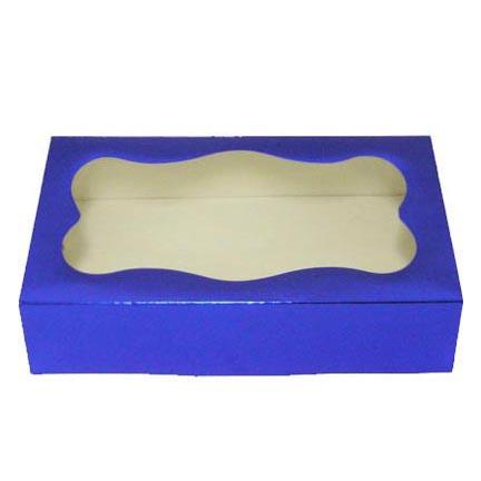 1# Blue Foil Cookie Boxes - QTY 200