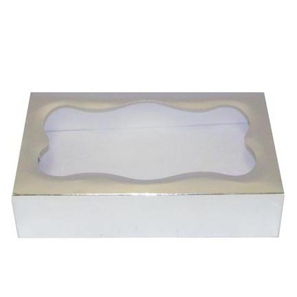 1# Silver Foil Cookie Boxes - QTY 1