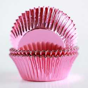 Standard Foil Baking Cups - Light Pink - 30ct