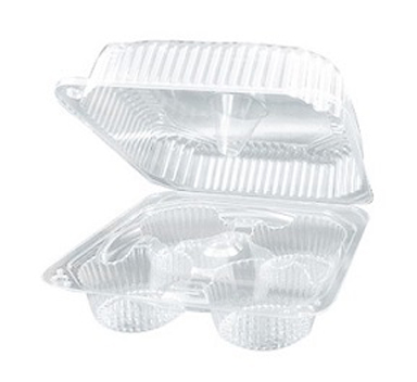 Jumbo Cupcake Containers - 4 count - qty 1