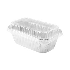 Aluminum Loaf Pan With Lid - 4 count - qty 1