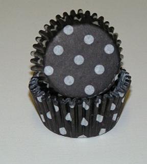 Mini Dot Baking Cups - Black - 500ct