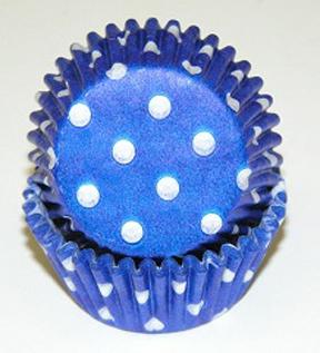 Standard Glassine Baking Cups - Polka Dot - Blue - 500ct