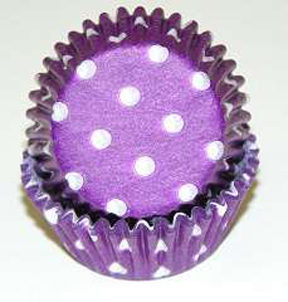 Standard Glassine Baking Cups - Polka Dot - Purple - 30ct