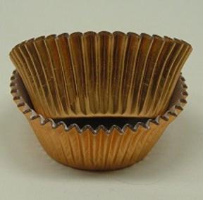 Mini Foil Baking Cups - Gold - 42ct