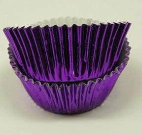 Mini Foil Baking Cups - Purple - 42ct
