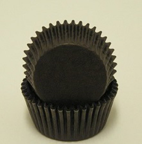 Mini Solid Baking Cups - Black - 50ct