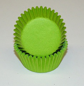 Mini Solid Baking Cups - Lime Green - 50ct