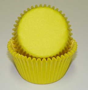 Mini Solid Baking Cups - Yellow - 50ct
