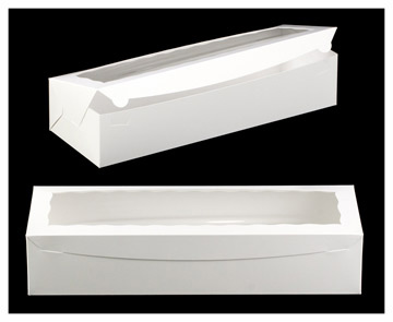 White Rose Box with Window - qty 1