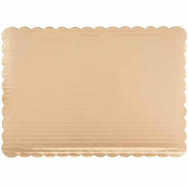 Gold Scalloped Sheet - Half Sheet