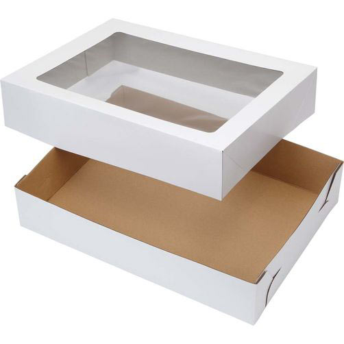 "Window Cake Box - 18""x26""x4"" - qty 6"