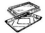 "Disposable Foil Pan with Lid - 12""x17"" - qty 1"