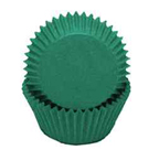 Standard Glassine Baking Cups - Dark Green - 30ct