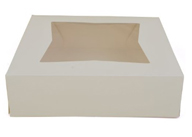 "Window Cake Box - 9""x9""x4"" - qty 6"