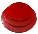 """Red Round Drum - 8"""""""