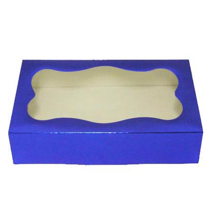 1# Blue Foil Cookie Boxes - QTY 1 box