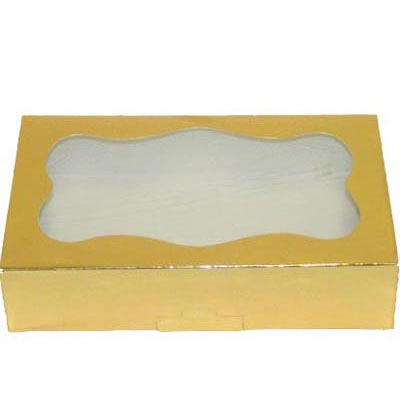 1# Gold Foil Cookie Boxes - QTY 200