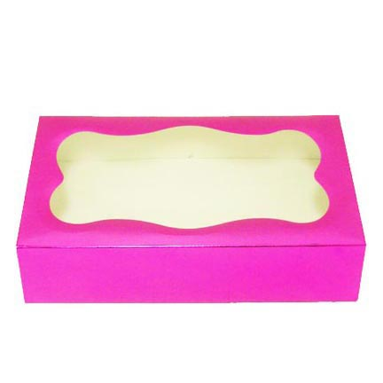 1# Hot Pink Foil Cookie Boxes - QTY 1