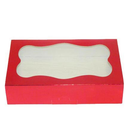 1# Red Foil Cookie Boxes - QTY 1