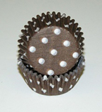 Mini Dot Baking Cups - Brown - 50ct