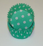 Standard Glassine Baking Cups - Polka Dot - Green - 30ct