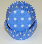 Mini Dot Baking Cups - Light Blue - 500ct