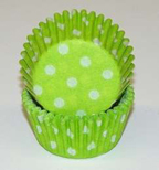 Mini Dot Baking Cups - Lime Green - 500ct