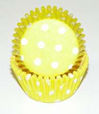 Mini Dot Baking Cups - Yellow - 50ct