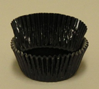 Mini Foil Baking Cups - Black - 42ct