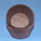 Mini Solid Baking Cups - Brown - 50ct