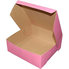 "Pink Sheet Cake Box - 10""x14""x4"" - qty 6"