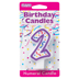 PURPLE NUMERAL CANDLES - 2