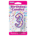 PURPLE NUMERAL CANDLES - 3