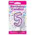 PURPLE NUMERAL CANDLES - 5