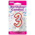 RED NUMERAL CANDLES - 3