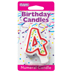 RED NUMERAL CANDLES - 4