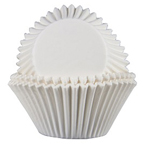 Mini Glassine Baking Cups - White - 80ct